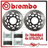 Dischi E Pastiglie Freno Anteriore Brembo SUZUKI GSX-R 600 2008 2009 2010 78B40863 + 07SU27LA