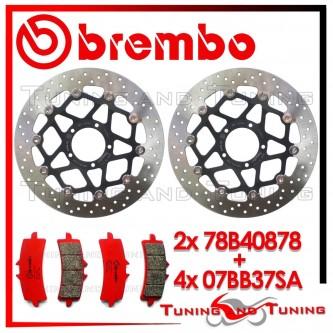 Dischi E Pastiglie Freno Anteriore Brembo DUCATI DIAVEL 1200 2011 2012 78B40878 + 07BB37SA