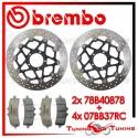 Dischi E Pastiglie Freno Anteriore Brembo DUCATI DIAVEL CARBON 1200 2013 2014 78B40878 + 07BB37RC