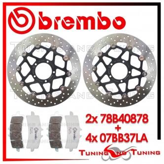 Dischi E Pastiglie Freno Anteriore Brembo DUCATI DIAVEL 1200 2011 2012 78B40878 + 07BB37LA