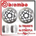 Dischi E Pastiglie Freno Anteriore Brembo DUCATI DIAVEL CARBON 1200 2013 2014 78B40878 + 07BB37LA
