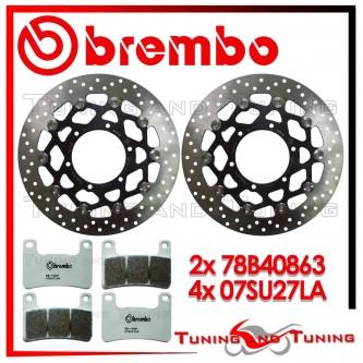 Dischi E Pastiglie Freno Anteriore Brembo SUZUKI GSX-R 1000 2009 2010 2011 78B40863 + 07SU27LA