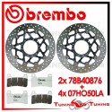 Dischi E Pastiglie Freno Anteriore Brembo HONDA CBR 1000 RR 2008 2009 78B40876 + 07HO50LA