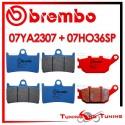Pastiglie Freno Anteriore E Posteriore Brembo YAMAHA FAZER 8 800 ABS 2011 2012 07YA2307 + 07HO36SP