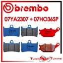 Pastiglie Freno Anteriore E Posteriore Brembo YAMAHA MT 09 STREET RALLY 850 2014 07YA2307 + 07HO36SP