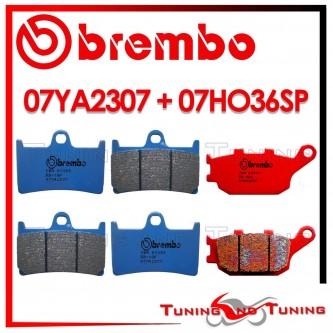 Pastiglie Freno Anteriore E Posteriore Brembo YAMAHA FZ6 S2 600 2007 2008 07YA2307 + 07HO36SP