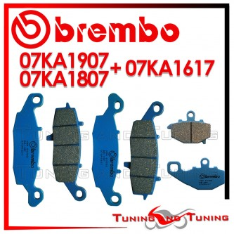 Pastiglie Freno Anteriore E Posteriore Brembo KAWASAKI ER6N 650 ABS 2006 2007 2008 07KA1807 + 07KA1907 + 07KA1617