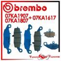 Pastiglie Freno Anteriore E Posteriore Brembo KAWASAKI Z 750 S 2005 2006 07KA1807 + 07KA1907 + 07KA1617