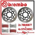 Dischi E Pastiglie Freno Anteriore Brembo HONDA CBR 1000 RR 2006 2007 78B40877 + 07HO50SC