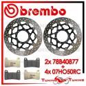 Dischi E Pastiglie Freno Anteriore Brembo HONDA CBR 1000 RR 2006 2007 78B40877 + 07HO50RC