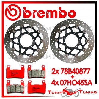 Dischi E Pastiglie Freno Anteriore Brembo HONDA VTR SP2 1000 2002 2003 2004 78B40877 + 07HO45SA