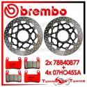 Dischi E Pastiglie Freno Anteriore Brembo HONDA VTR SP1 1000 2000 2001 78B40877 + 07HO45SA