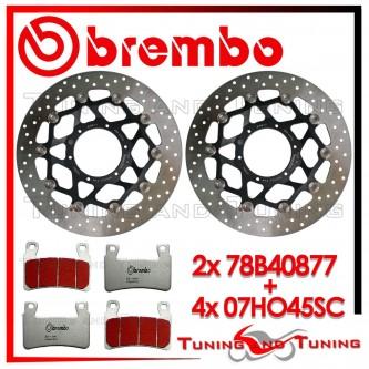 Dischi E Pastiglie Freno Anteriore Brembo HONDA VTR SP1 1000 2000 2001 78B40877 + 07HO45SC