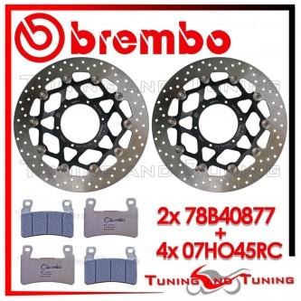 Dischi E Pastiglie Freno Anteriore Brembo HONDA VTR SP1 1000 2000 2001 78B40877 + 07HO45RC