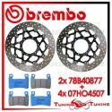 Dischi E Pastiglie Freno Anteriore Brembo HONDA VTR SP2 1000 2002 2003 2004 78B40877 + 07HO4507