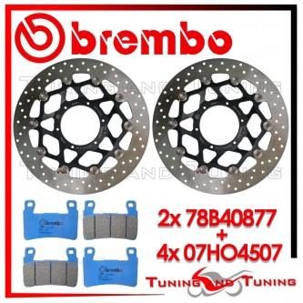 Dischi E Pastiglie Freno Anteriore Brembo HONDA VTR SP1 1000 2000 2001 78B40877 + 07HO4507