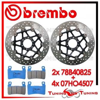 Dischi E Pastiglie Freno Anteriore Brembo HONDA CBR 600 F 1999 2000 78B40825 + 07HO4507