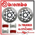 Dischi E Pastiglie Freno Anteriore Brembo HONDA CBR 600 F 1999 2000 78B40825 + 07HO45SC