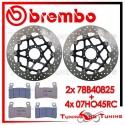 Dischi E Pastiglie Freno Anteriore Brembo HONDA CBR 600 F 1999 2000 78B40825 + 07HO45RC