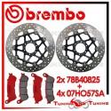 Dischi E Pastiglie Freno Anteriore Brembo HONDA XL V VARADERO 1000 ABS 2003 2004 78B40825 + 07HO57SA