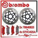 Dischi E Pastiglie Freno Anteriore Brembo HONDA XL VARADERO 1000 1999 78B40825 + 07HO42SA