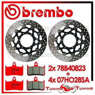 Dischi E Pastiglie Freno Anteriore Brembo HONDA HORNET 900 2002 2003 78B40823 + 07HO28SA