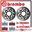 Dischi E Pastiglie Freno Anteriore Brembo HONDA HORNET 900 2002 2003 2004 78B40823 + 07HO28SC
