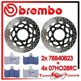 Dischi E Pastiglie Freno Anteriore Brembo HONDA HORNET 900 2002 2003 78B40823 + 07HO28RC