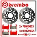 Dischi E Pastiglie Freno Anteriore Brembo HONDA CBR 600 F SPORT 2001 2002 78B40823 + 07HO45SA