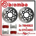 Dischi E Pastiglie Freno Anteriore Brembo HONDA CBR 600 F4 2001 2002 2003 78B40823 + 07HO45SC