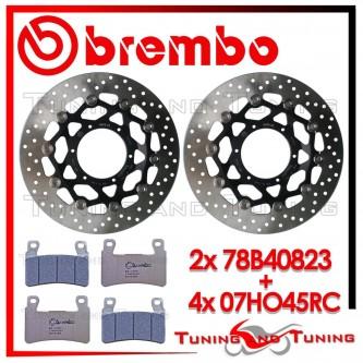 Dischi E Pastiglie Freno Anteriore Brembo HONDA CBR 600 F4 2001 2002 78B40823 + 07HO45RC