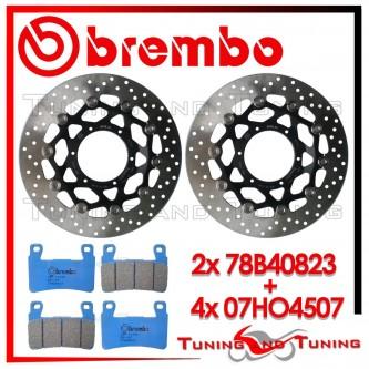 Dischi E Pastiglie Freno Anteriore Brembo HONDA CBR 600 F4 2001 2002 2003 78B40823 + 07HO4507