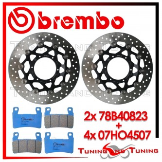 Dischi E Pastiglie Freno Anteriore Brembo HONDA CBR 600 F SPORT 2001 2002 78B40823 + 07HO4507