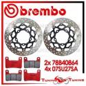 Dischi E Pastiglie Freno Anteriore Brembo SUZUKI GSX-R 600 2006 2007 78B40864 + 07SU27SA