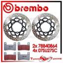 Dischi E Pastiglie Freno Anteriore Brembo SUZUKI GSX-R 750 2006 2007 78B40864 + 07SU27SC