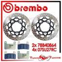 Dischi E Pastiglie Freno Anteriore Brembo SUZUKI GSX-R 750 2006 2007 78B40864 + 07SU27RC