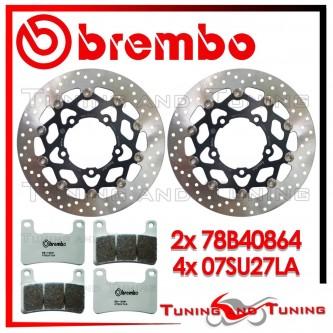 Dischi E Pastiglie Freno Anteriore Brembo SUZUKI GSX-R 750 2006 2007 78B40864 + 07SU27LA