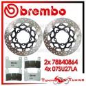 Dischi E Pastiglie Freno Anteriore Brembo SUZUKI GSX-R 1000 2005 2006 78B40864 + 07SU27LA
