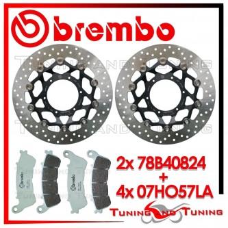 Dischi E Pastiglie Freno Anteriore Brembo HONDA HORNET 600 ABS 2007 2008 78B40824 + 07HO57LA