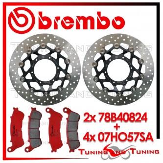 Dischi E Pastiglie Freno Anteriore Brembo HONDA CBR 600 F ABS 2011 2012 2013 78B40824 + 07HO57SA