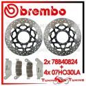 Dischi E Pastiglie Freno Anteriore Brembo HONDA HORNET 600 2007 2008 78B40824 + 07HO30LA