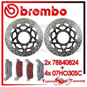 Dischi E Pastiglie Freno Anteriore Brembo HONDA CBR 600 F 2011 2012 2013 78B40824 + 07HO30SC