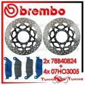 Dischi E Pastiglie Freno Anteriore Brembo HONDA HORNET 600 2011 2012 2013 78B40824 + 07HO3005