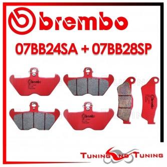 Pastiglie Freno Anteriore E Posteriore Brembo BMW R 850 C 1998 1999 07BB24SA + 07BB28SP