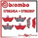 Pastiglie Freno Anteriore E Posteriore Brembo BMW R 850 R 1996 1997 07BB24SA + 07BB28SP