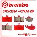Pastiglie Freno Anteriore E Posteriore Brembo KAWASAKI Z 1000 2003 2004 07KA23SA + 07KA16SP