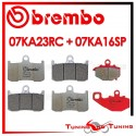 Pastiglie Freno Anteriore E Posteriore Brembo KAWASAKI ZX 9R 900 NINJA 2002 2003 07KA23RC + 07KA16SP