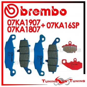 Pastiglie Freno Anteriore E Posteriore Brembo KAWASAKI Z 750 S 2005 2006 07KA1807 + 07KA1907 + 07KA16SP