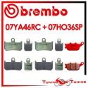 Pastiglie Freno Anteriore E Posteriore Brembo YAMAHA YZF R1 1000 2007 2008 07YA46RC + 07HO36SP