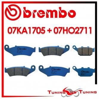 Pastiglie Freno Anteriore E Posteriore Brembo HONDA XL V TRANSALP 600 1997 1998 07KA1705 + 07HO2711